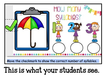 Google Classroom Counting Syllables