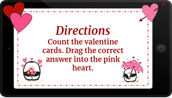 Google Classroom: Counting to 20- Valentine's Day