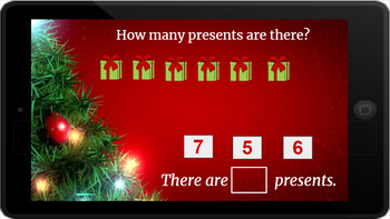 Google Classroom: Counting up to 20- Christmas