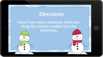 Google Classroom: Counting up to 20- Snowmen