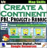 Google Classroom | Create a Continent Project | Map Skills