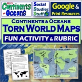 Google Classroom | Create a Torn World Map | Continents |