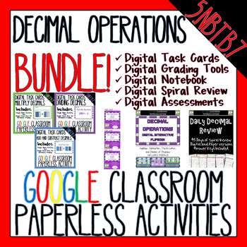 Google Classroom Decimal Operations BUNDLE!