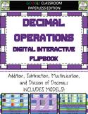 Decimal Operations Digital Interactive Notebook for Google Classroom