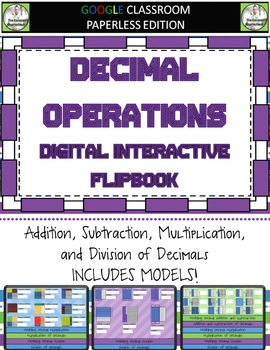 Decimal Operations Digital Interactive Notebook for Google Classroom
