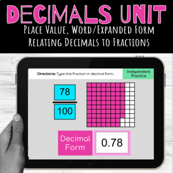 Google Classroom Decimals Unit