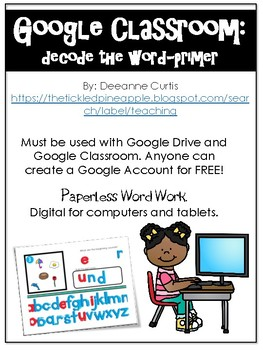 Google Classroom: Decode the Word Dolch Primer