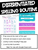 Google Classroom Differentiated Spelling & Word Study for