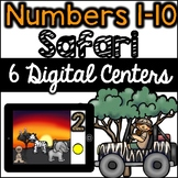 Digital Centers :Numbers 1-10 Safari (6 activities- Google Classroom, One Drive)