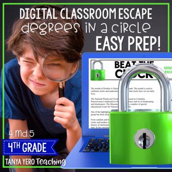 Google Classroom Digital Escape Math Digital Escape Room 4.MD.5 Degrees Angles