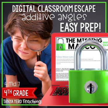 Google Classroom Digital Escape Math Digital Escape Room 4.MD.7 Angles