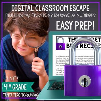 Google Classroom Digital Escape Math Digital Escape Room 4.NF.4 Fractions