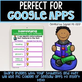 Google Classroom Digital (Paperless) Graphic Organizers BUNDLE