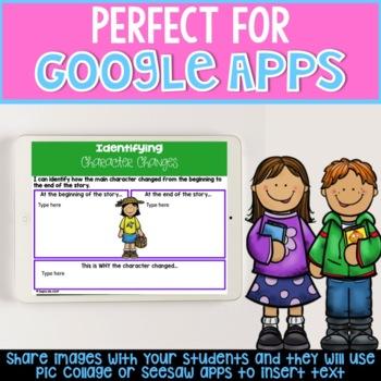 Google Classroom Digital Graphic Organizers for Fiction