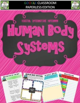 Google Classroom Human Body Systems Digital Notebook