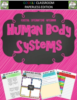 Google Classroom Human Body Systems Digital Notebook