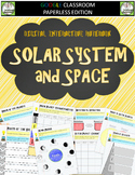 Google Classroom Solar System and Space Digital Notebook
