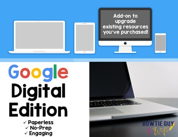 Google Classroom Digital Add on for Paperless Classrooms and Google Forms, Too!