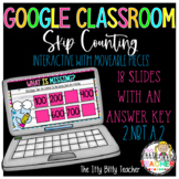 Google Classroom Digital Skip Count by 5's, 10's, and 100'