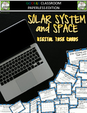 Google Classroom Solar System and Space Digital Task Cards