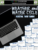 Weather and Water Cycle Digital Task Cards for Google Classroom