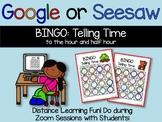 Google Classroom or Seesaw Digital Telling Time Bingo! {Di
