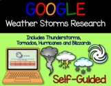 Google Classroom Digital Weather Storms Research Books