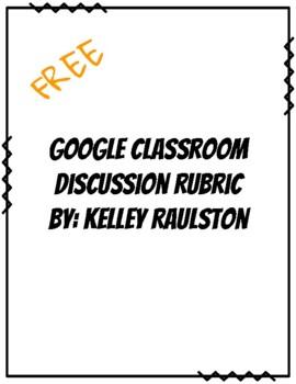 Google Classroom Discussion Rubric