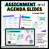 Editable Daily Agenda Google Slides Templates with Timers