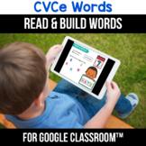 Google Classroom Distance Learning CVCe Word Worksheets, Digital Learning ELA