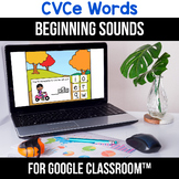 FREE Google Classroom Distance Learning CVCe Word Worksheets, Digital Learning