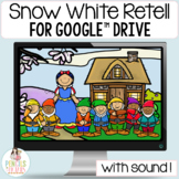 Snow White Google™ Slides   Digital Fairy Tale Retell Activities and Printables