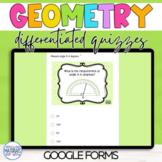 Google Classroom Geometry Quizzes