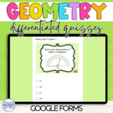 Google Classroom DISTANCE LEARNING Geometry Quizzes