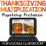 Digital Multiplication Mystery Pictures for Google Classroom™ Thanksgiving