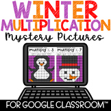 Google Classroom Distance Learning Multiplication Color by