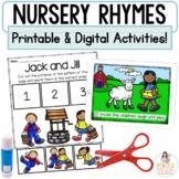 Nursery Rhymes   Google™ Classroom Digital and Printable R