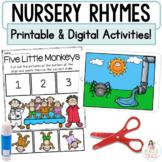 Nursery Rhymes   Digital Google™ Slides and Printable Rete