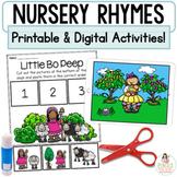 Nursery Rhymes   Digital Google™ Slides & Printable Retell