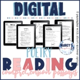 Digital Google Slides - Poetry Reading Comprehension Passages 4th & 5th grade