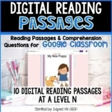 Google Classroom Distance Learning Reading Comprehension