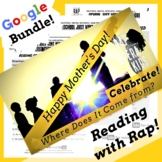 History of Mother's Day Digital Reading Activities Using Rap Song