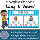 Long E Vowel Teams Phonics Game Google Slides Seesaw Printable Worksheets