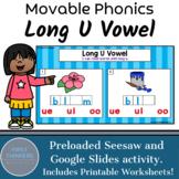 Long U Vowel Teams Phonics Game Google Slides Seesaw Printable Worksheets