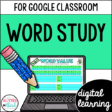 Google Classroom Distance Learning Word Study