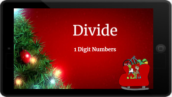 Google Classroom: Divide 1 Digit Numbers- Christmas