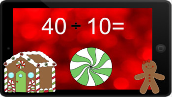 Google Classroom: Dividing by 10s - Winter Theme