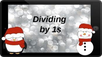Google Classroom: Dividing by 1s - Winter Theme