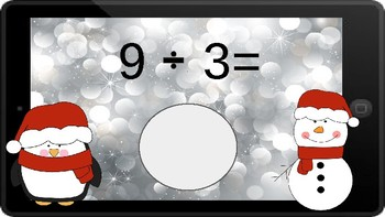 Google Classroom: Dividing by 3s - Winter Theme