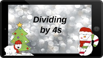 Google Classroom: Dividing by 4s - Winter Theme